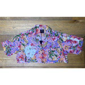 NEW LF the Brand Paradise Night Tropical Shirt XS